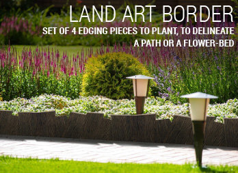 Set of 4 edging pieces to plant, to delineate a path or a flower-bed