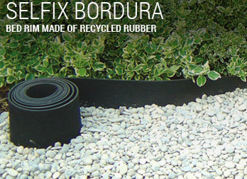 BED RIM MADE OF RECYCLED RUBBER
