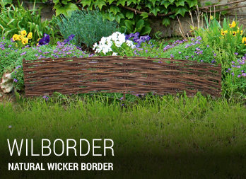 Natural wicker border